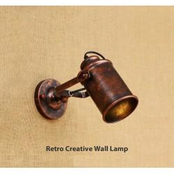 Retro kreatywny kinkiet - lampa - regulowana - pojedyncza - podwójna głowica