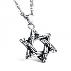 Star of David pendant with necklace - unisex