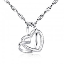 Pendente a forma di cuore - collana in acciaio inossidabile - 23 tipi