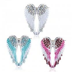 Kryształowe skrzydła anioła - broszka