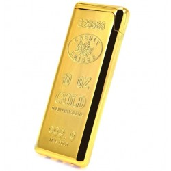 10 Oz Golden Refillable Jet Lighter