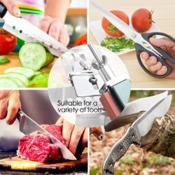 Profesjonalna ostrzałka do noży kuchennych - narzędzie o stałym kącie - z 4 osełkami