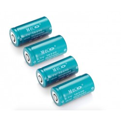 3.7V 1200mAh Rechargeable CR123A/16340 Li-ion Battery 4PCS