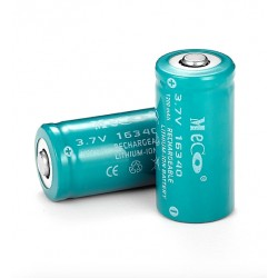 MECO 3.7v 1200mAh Rechargeable CR123A/16340 Li-ion Battery 4PCS