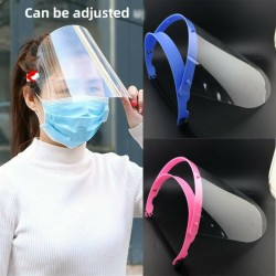 Safety shield mask - adjustable - transparent - visor