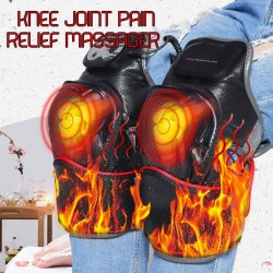 1 PC Knee Physiotherapy Massager Electric Knee Magnetic Vibration Heating Massager Hot Compress Join