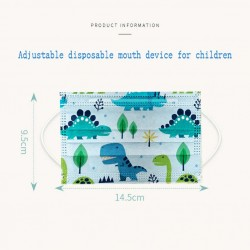 50 pieces - disposable antibacterial medical face mask - mouth mask - 3-layer - for kids