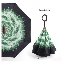Anti UV Inverted Umbrella Reverse Night Snow Windproof Folding Sunny and Rainy Men and Women Double
