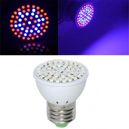E27 LED grow light - 60 LEDS - cultivo de plantas y flores - hidropónico