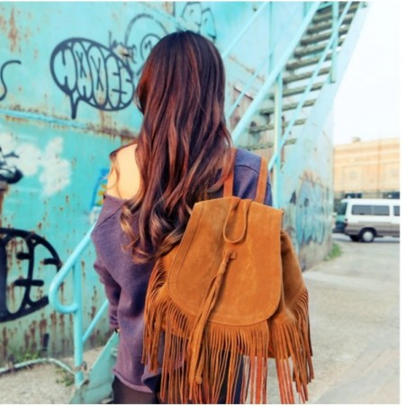 Women String Cowboy Design Backpack