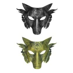 Wolf - Gesichtsmaske - für Halloween / Maskerade / Party