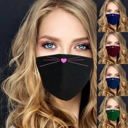 Cute face mask - washable - 5 colours - 1pc