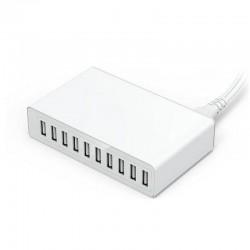 50W - 10 USB-poort - Slimme oplader - Snellader