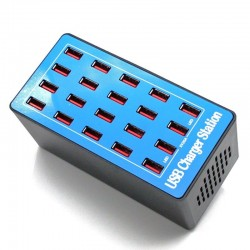 20 ports USB charger - 20A / 100W - LED