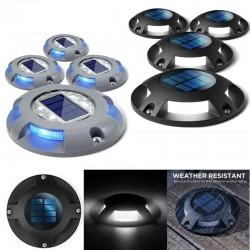41 - 4 sztuki - 4 LED - lampa solarna - oświetlenie podjazdu - wodoodporna