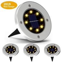 4 Stück - solarbetriebene Lampen - 8 LED - wasserdichte Gartenleuchte