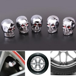 5Pc - Skull - tube value stem cap