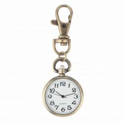 Reloj vintage retro de bronce - llavero