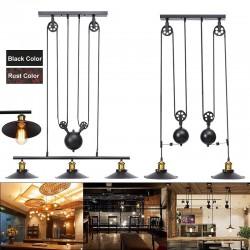 Vintage wisząca lampa z rolką - 2 / 3 głowice - E27 - AC110 - 240V