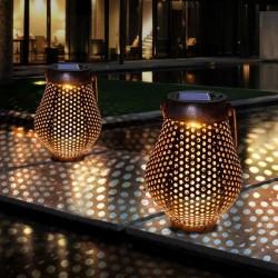 Lanterne in ferro con manico - solari - luce da giardino impermeabile