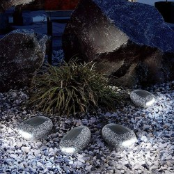 LED Stone - Pebbles - Waterproof - Rock Light - Solar Lamp