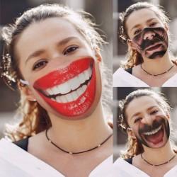 Lustige bedruckte gesichtsmaske - anti-verschmutzungs-mundabdeckung - baumwolle