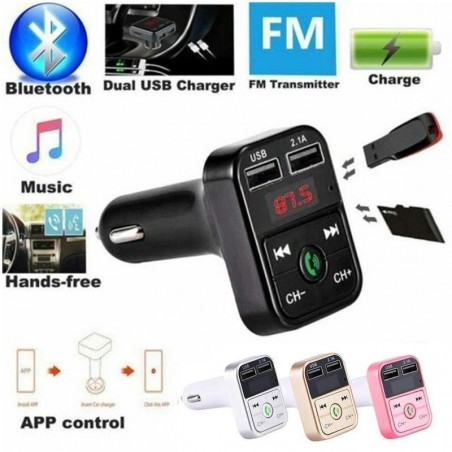 Bluetooth FM-Transmitter Auto-Audio-Player USB-Ladegerät LCD-Display