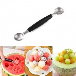 Stainless steel watermelon slicer - knife - spoon - set
