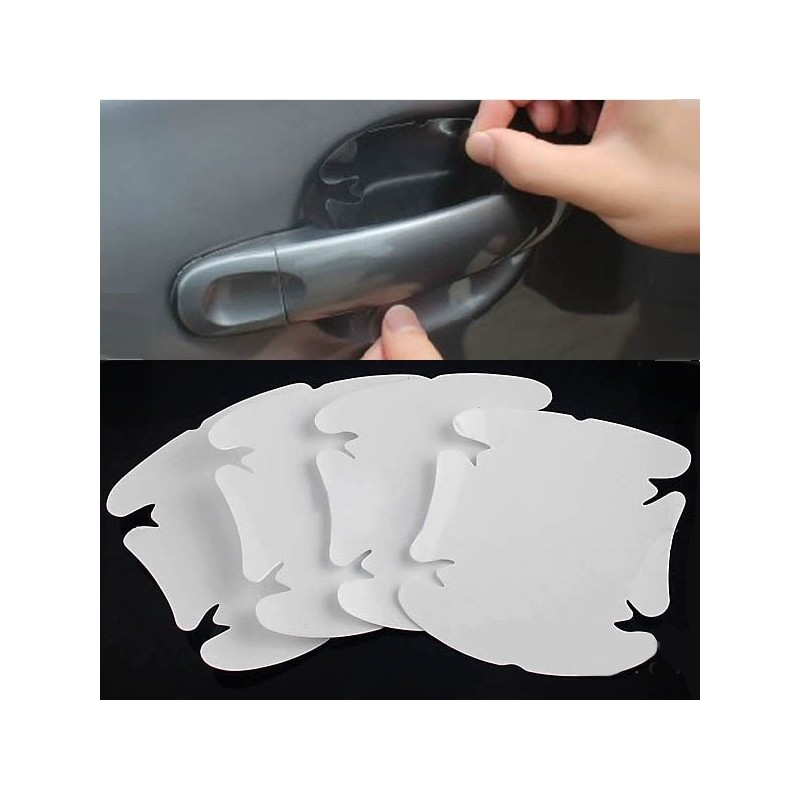 Transparant Car Door Handle Scratch Protection Foil Sticker 4 Pcs