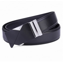 Leather belt with automatic buckle 120 cm