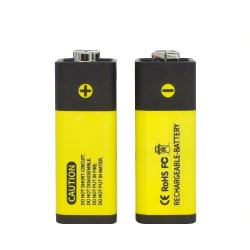 9v - Usb Rechargeable Battery - Lithium