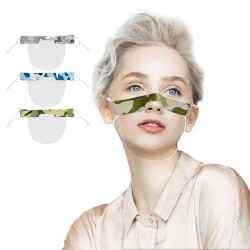 Transparenter Mundschutz - Kunststoff-Halbmaske - Lippenlesung