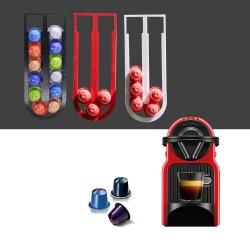 Nespresso Coffee Pod Holder - Tower Stand - Red - Black - White