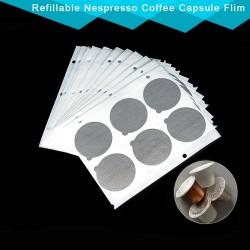2000PC - Refillable Nespresso Coffee - Aluminum Foil - Capsule Stickers