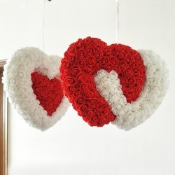 Roses - Artificial Flower - Wedding Decoration - Heart Shaped