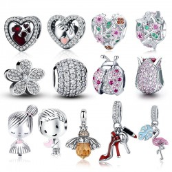 925 Sterling Silver - Charm Beads - Charm Pendants - 61 types