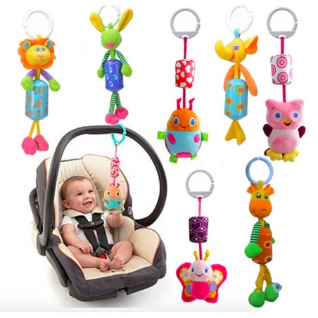 Baby Hanging Doll Plush Animal Music Stroller