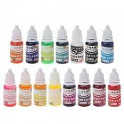 10ML - Epoxy - Resin - Pigment - UV - Coloring Dye - Colorant - 15 Colors