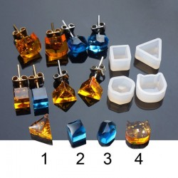 4 Shapes - Silicone Casting - Resin Mold - DIY Resin Jewelry
