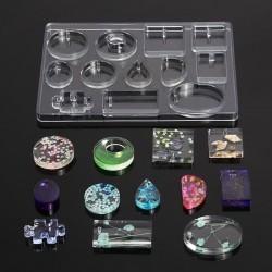 Silikongussform für die Herstellung von Harzschmuck - 12 Formen
