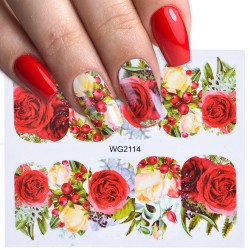 Nail Art Aufkleber mit Blumen