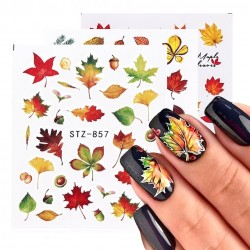 1pcs - Fall Leaves - Nail Art - Stickers - Maple Leaf