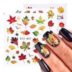 Herbstblätter - nagelaufkleber