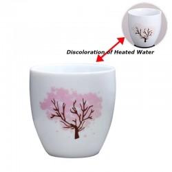Farbwechselnde Keramikschale - Verfärbung bei heißen und kalten Temperaturen - Japanische Sakura
