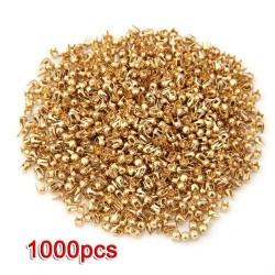 1000pcs - Gold Tone - Spike Studs - DIY - 2.5mm