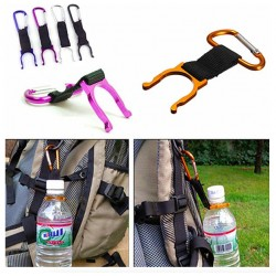 Aluminium bottle holder with carabiner