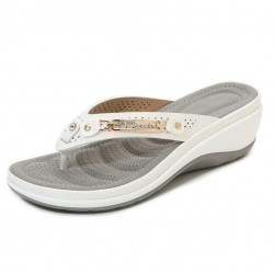Summer - Slippers - Metal Button - Leisure