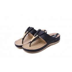 Summer - Slippers - Sandals - Black - Beige