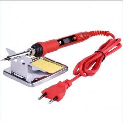 Soldador eléctrico 80W - Pantalla LCD - Temperatura regulable - 110V / 220V