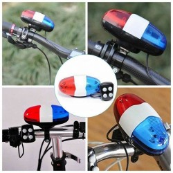 6 LED - 4 Töne - Fahrradklingel - Hupe mit Licht